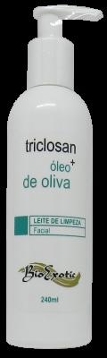 Leite de Limpeza Facial com Triclosan e Óleo de Oliva 240ml Bioexotic