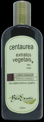 Condicionador para Cabelos Brancos e Grisalhos com Centaurea,Extratos Vegetais e Filtro Solar 250ml Bioexotic