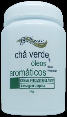 Creme Fitoestimulante Massagem Corporal com Chá Verde e Óleos Aromáticos (Essências florais ) 1Kg Bioexotic