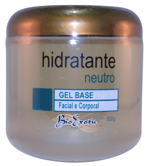 Gel Base Hidratante Neutro - Facial e Corporal  500g Bioexotic