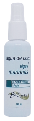 Loção Tônica Facial com Água de Coco e Algas Marinhas 120ml Bioexotic