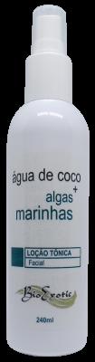 Loção Tônica Facial com Água de Coco e Algas Marinhas 240ml Bioexotic