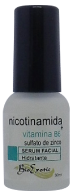 Serum Facial com Nicotinamida, Sulfato de Zinco e Vitamina B6 30ml Bioexotic