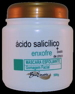 Máscara Esfoliante Gomagem Facial com Ácido Salicílico, Enxofre e Óxido de Zinco 500g Bioexotic