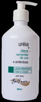 Loção Hidratante com Uréia , Óleo Sementes de Uva e Amêndoas 500ml Bioexotic