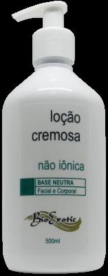 Loção Cremosa (Emulsão) Base Neutra Hidratante não Iônica - Facial e Corporal500ml Bioexotic