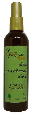 Óleo Vegetal de Amêndoas doce - Corporal e Capilar 240 ml Bioexotic