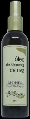 Óleo Vegetal de Semente de Uva -  Corporal e Capilar 240 ml Bioexotic