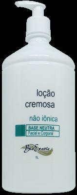 Loção Cremosa (Emulsão) Base Neutra Hidratante não Iônica -  Facial e Corporal1L Bioexotic