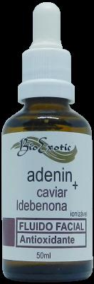 Fluido Facial Adenin, Caviar, Idebenona e Alfa Arbutin 50ml Ionizável Bioexotic