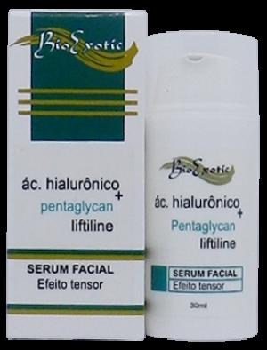 Serum Facial com Ácido Hialurônico, Liftiline, Pentaglycan e Hidroviton 30 ml Bioexotic