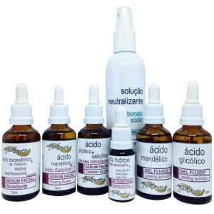 Kit de 6 Ácidos + Brinde Solução Neutralizante Bioexotic