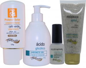 Home Care Clareamento Facial – (Pele Oleosa  Serum Facial Hidratante (Nicotinamida + Vit B6 + Sulfato de Zinco) Bioexotic