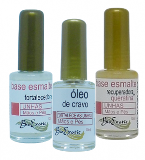 Kit Para Unhas: Cravo, Formol E Queratina 3 X 10ml Bioexotic