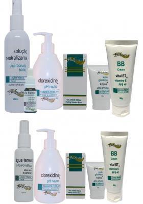 Peeling Facial com Gel Fluído Alfahidroxiácidos + Home Care Bioexotic