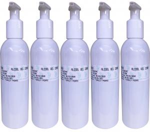 Kit 5 Frascos Álcool Gel Para as Mãos + Brinde  Bioexotic