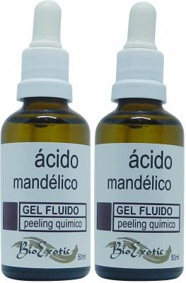 2 Frascos de Gel Fluido Facial de Ácido Mandélico 10% Bioexotic