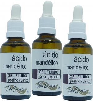 3 Frascos de Gel Fluido Facial de Ácido Mandélico 10% Bioexotic
