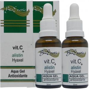 2 Frascos de Aqua Gel Facial com Vitamina C, Alistin e Hyaxel Bioexotic