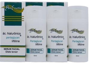 3 Serum Facial com Ácido Hialurônico, Liftiline, Pentaglycan e Hidroviton Bioexotic