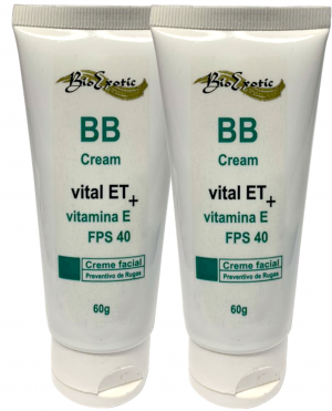 2 Bisnagas BB CreamFPS 40 com Vital ET e Vitamina E Bioexotic