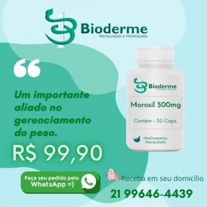 3 Potes de  MOROSIL 500mg /30caps   Bioderme  Farmácia de Manipulação  Bioexotic