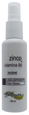 2 Frascos de Loção Adstringente Facial para Pele Oleosa Ionizável com Zinco e Vitamina B6  Bioexotic