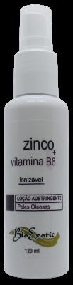 3 Frascos de Loção Adstringente Facial para Pele Oleosa Ionizável com Zinco e Vitamina B6  Bioexotic